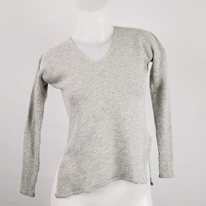 Babaton with Linen Grey Long Sleeve Top Size XXS